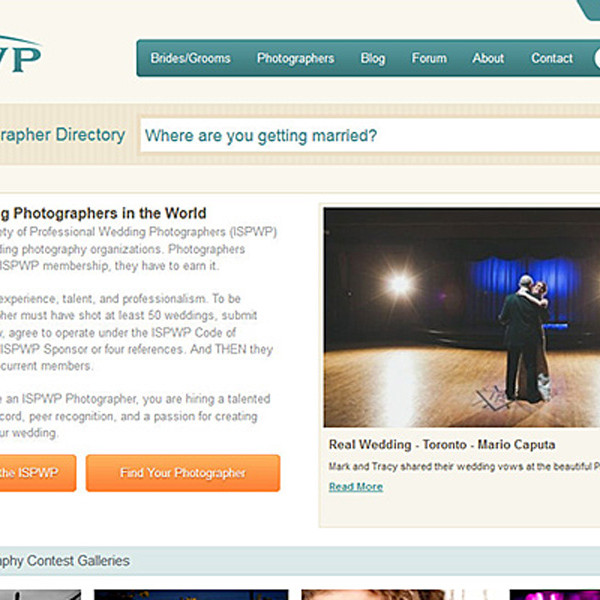 Featured Wedding on ISPWP Website