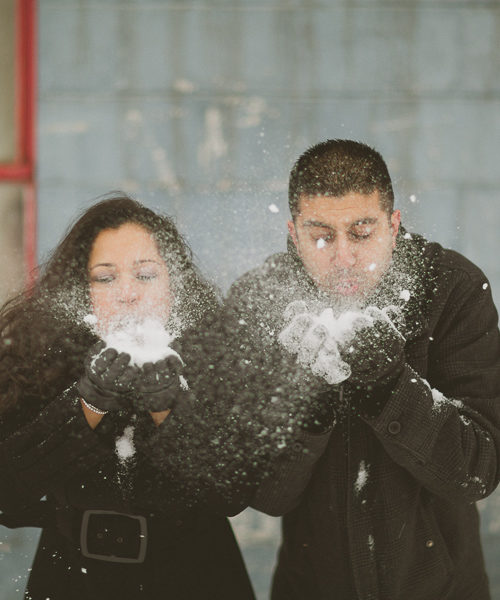 Winter Engagement Pictures | Kleinburg, ON