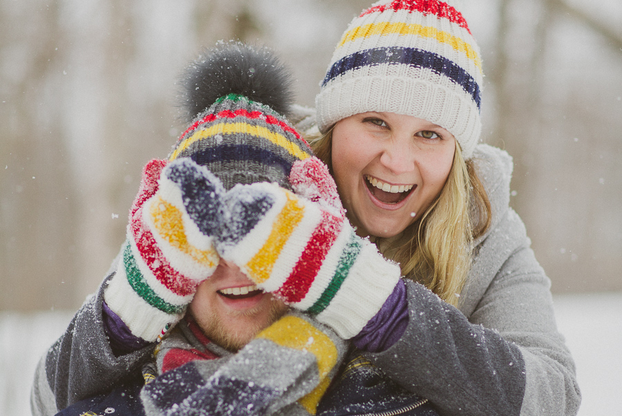 Winter Engagement Picture by Avangard Photography