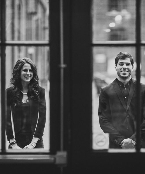 Distillery District Night Engagement Pictures | Toronto