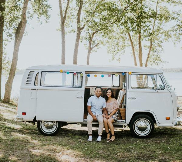 Das VW Van Engagement Pictures | Cherry Beach, Toronto