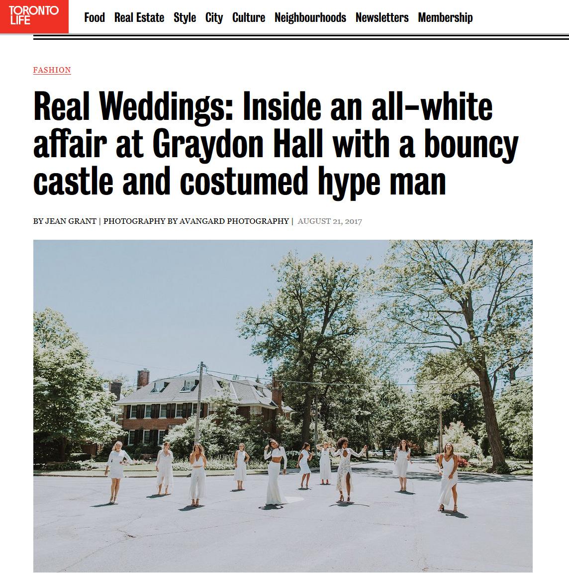 Real Weddings: Inside an all-white affair at Graydon Hall