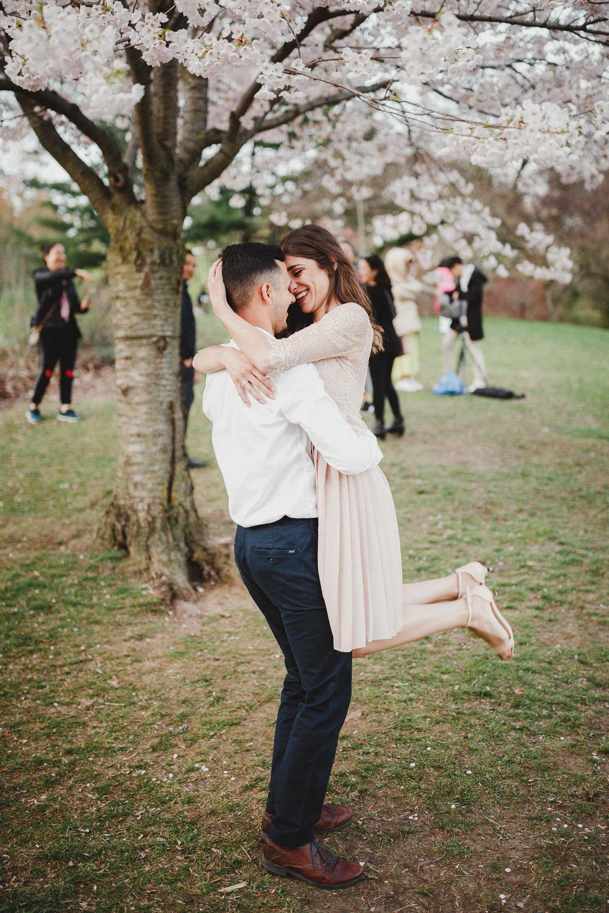 Toronto Cherry Blossom High Park Engagement Pictures