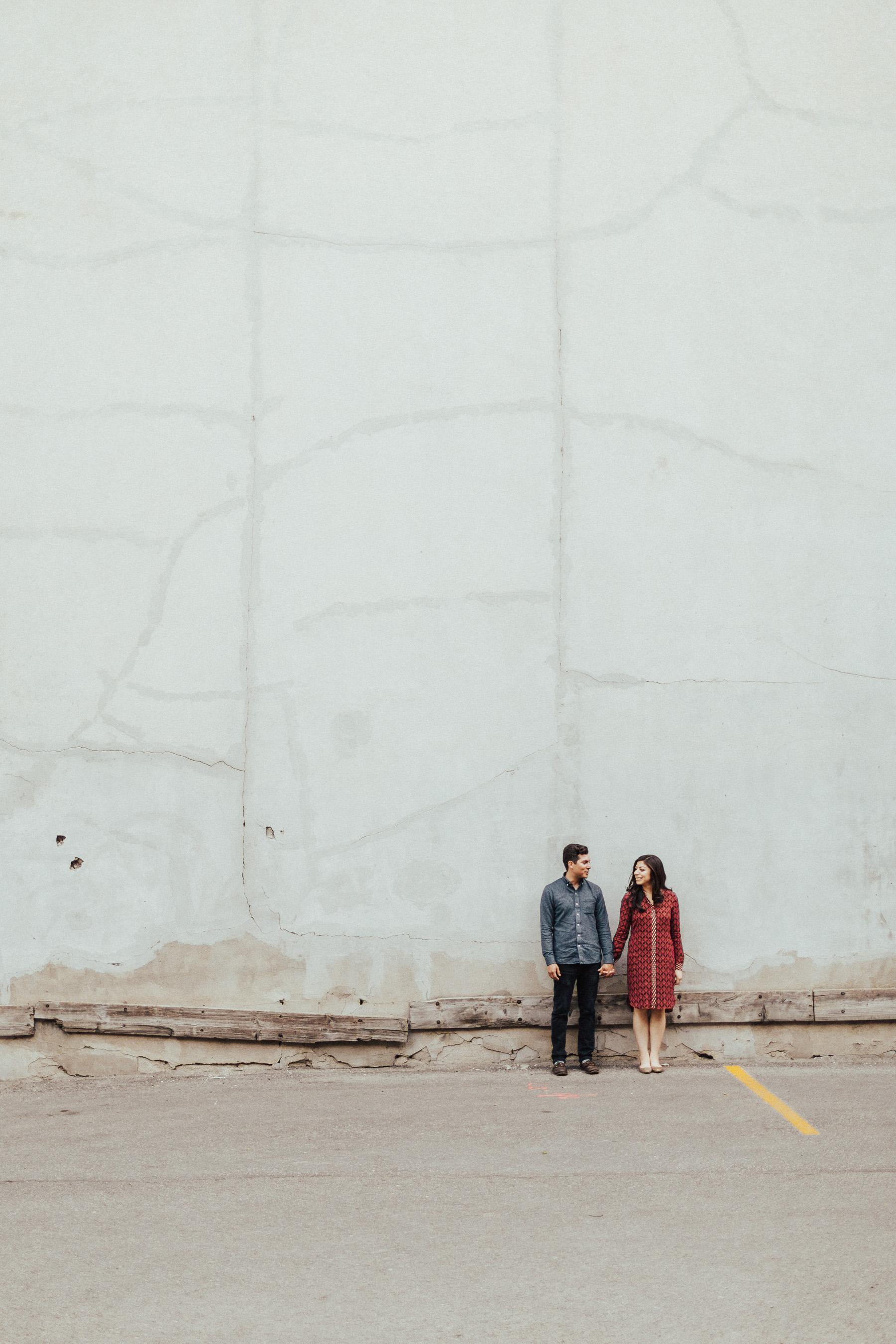 Toronto Urban Engagement Photos by Wedding Photographer
