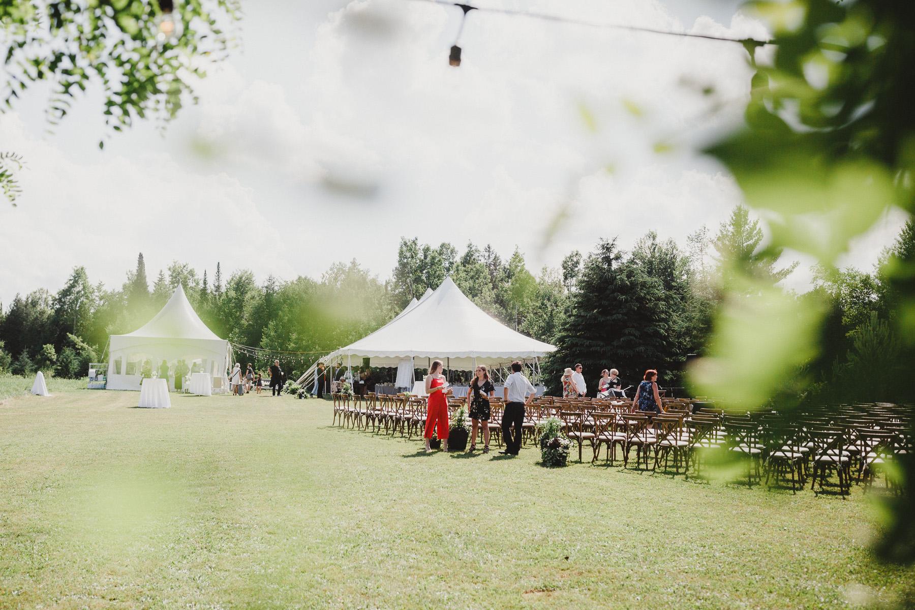 Epic Garden Party Wedding of Hockey Legends Wedding Picture